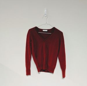 Everlane red cashmere v-neck sweater size S